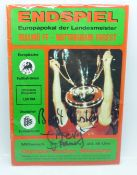 A programme from the 1979 European Cup Final signed by goal scorer Trevor Francis