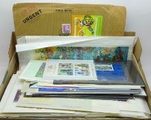 Stamps; worldwide miniature sheets, loose and on cover