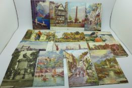 Forty-four Raphael Tuck & Sons postcards