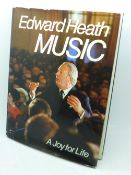 One volume, Edward Heath, Music, A Joy for Life, signed
