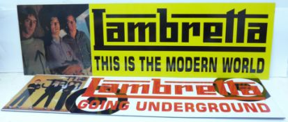 The Jam; two modern Lambretta wall plaques, Going Underground and This Is The Modern World