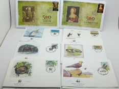 Ten Henry VIII commemorative First Day Covers, each cover with 50p stamp, cancelled by St. Helena,