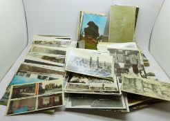 Approximately 350 Edwardian and later postcards