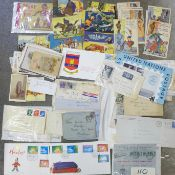 Twentieth Century postal history, first day covers including Freedom From Hunger, First Flight,