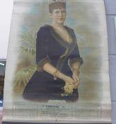 Farrands Grocers and Wine Merchants, Nottingham, chromo lithograph calendar for 1904 with portrait