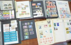 Stamps; Argentina, Magyar Posta, Liberia Churchill commemoratives, Manama Soyuz 11, Mongolia,