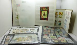 Stamps; Chinese stamps and covers in stock books and stock sheets