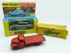 A Dinky Toys no.422 Fordson Thames Flat Truck, box a/f , and a Corgi Toys no.275 Rover 2000 TC,