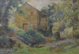 T.E. Taylor, Old Mill, watercolour, 36 x 53cms, framed