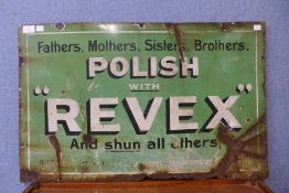 An enamelled Polish With Revex sign, 48 x 76cms