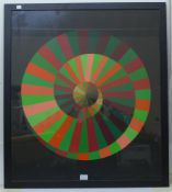 Victor Vasarely (Hungarian 1906-1997), 1972 Munich Olympic Spirale poster, 83 x 73cms, framed