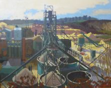 * Gilbert, industrial landscape, oil on canvas, 101 x 126cms, framed