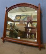 A Victorian Aesthetic Movement mahogany framed mirror, 77 x 80cms