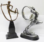 Two modern Art Deco figures; a Coalport Collectibles Spellbound, 34cm and Regency Fine Arts