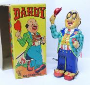 A Mikuni tin-plate clockwork toy, Dandy Mechanical, made in Japan, 15cm, boxed