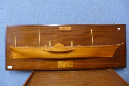 A mahogany and teak ship diorama, Persia, built by R. Napier and Sons, Glasgow ,1856, 40 x 106cms