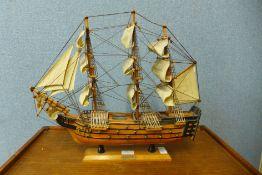 A model of HMS Victory, 44cms h