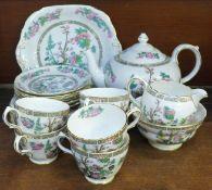 A Grosvenor Indian Tree six setting tea set