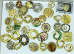 A collection of vintage scarf clips