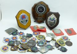 Shooting medals and medallions, 1950's to 1980's, local interest