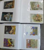 Postcards; two albums of modern reproduction advertising cards (280)