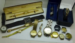 A collection of lady's and gentlemen's wristwatches