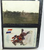 An album of military postcards including reproductions (30)