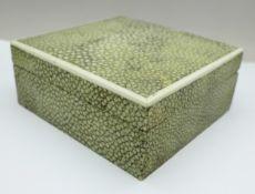 A shagreen box, 10.5cm x 10cm