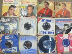 """Elvis Presley and other rock and roll 7"""" vinyl singles"""
