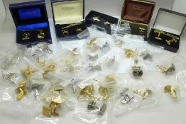 A collection of cufflinks