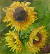 C.C. Turner, still life of sunflowers, watercolour, 48 x 44cms, framed