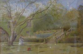 K.E. Booth, Haddon Hall, watercolour, 33 x 50cms, framed