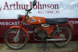 A 1973 Moto Guzzi Hispania Dingo 49cc motorcycle