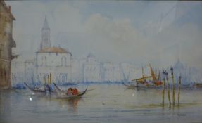 W. Stewart, Venice, watercolour, 30 x 50cms, framed