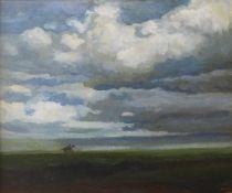 J. Kay, horse racing scene, oil on canvas, 50 x 60cms, framed