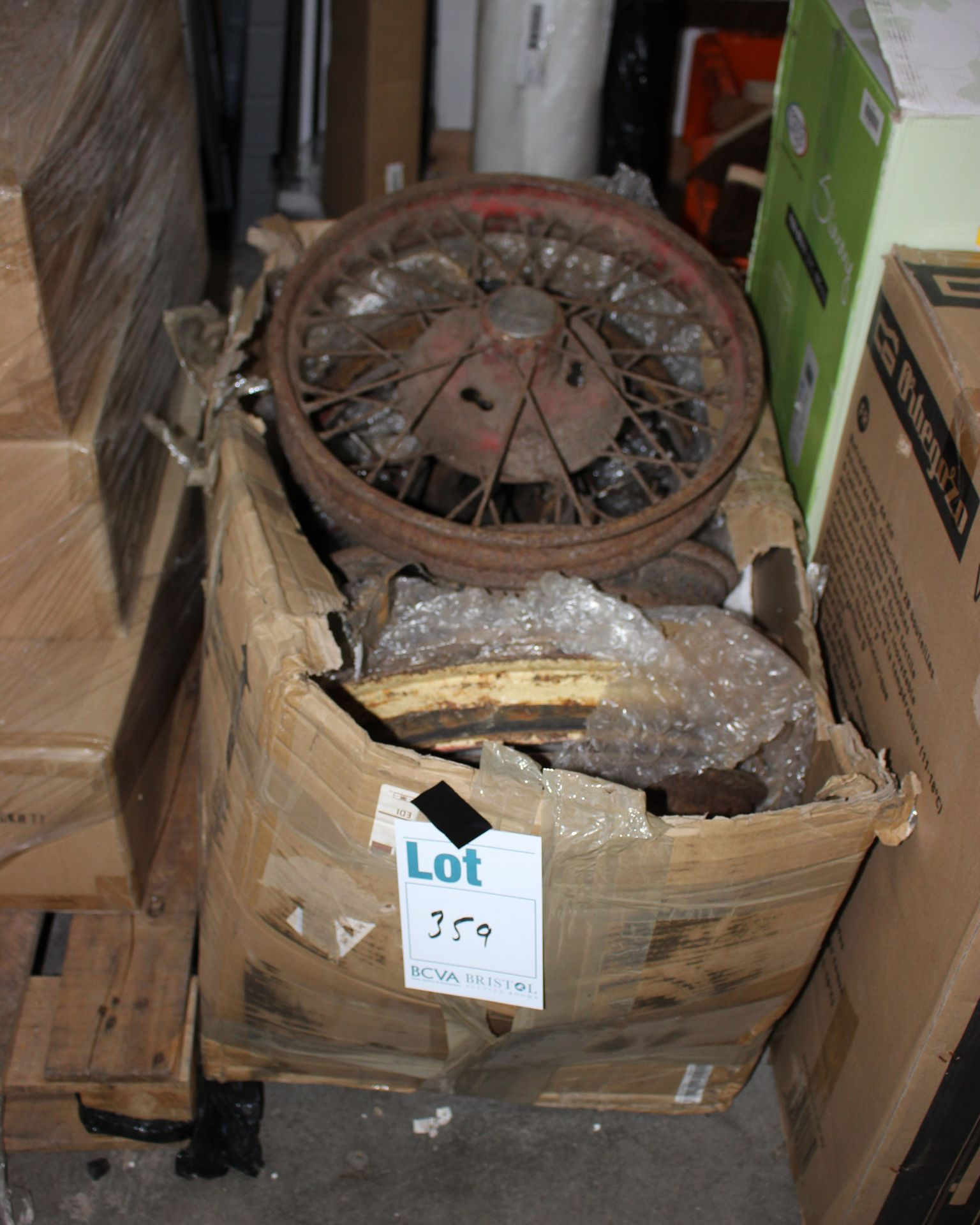 Lot 359 - A set of Fiveive Austin 7 1930-35 spoke wheels.