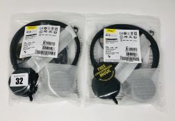 Two as new Jabra Evolve 20 USB Stereo Headsets (P/N: 4999-823-109).