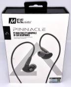 A boxed as new pair of MEE audio Pinnacle P2 High Fidelity Audiophile In-Ear Headphones in Black (
