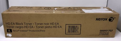 A boxed as new Xerox HD EA Black Toner for Iridesse Production Press (006R01707) (Box sealed, some