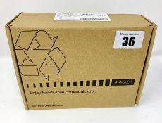 A boxed as new Jabra Pro 930 Mono UC Wireless USB Headset (930-25-509-102) (Box opened).