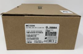 A boxed as new Zebra MC3300 Premium Rugged Android Mobile Computer / Barcode Scanner with Pistol