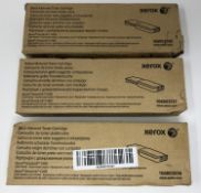 Two boxed as new Xerox 106R03536 Black Toner Cartridges and a boxed as new Xerox 106R03537 Yellow