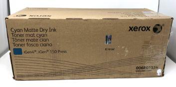A boxed as new Xerox iGen 150 / iGen4 Cyan Matte Dry Ink Cartridge (006R01534) (Box opened).