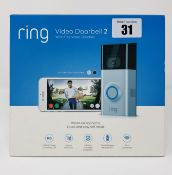 A boxed as new Ring Video Doorbell 2 (Box sealed).