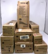 Ten as new Xerox items; 1 x 006R01638 Metered Toner Cartridge Black, 1 x 006R01509 Metered Toner