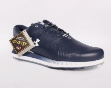 One pair of boxed as new Under Armour HOVR Show SL GTX E spike-less golf shoes in navy (UK 9.5).