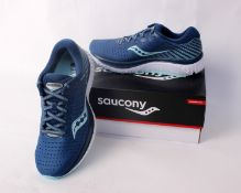 A pair of women's as new Saucony Guide 13 running shoes (UK 6.5).