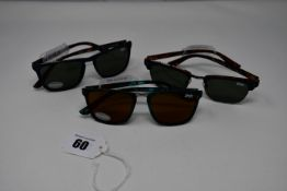Three pairs of as new Superdry sunglasses (RRP £70 each).
