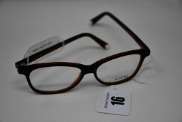 A pair of as new MiniVi glasses frames with clear glass (RRP £240).