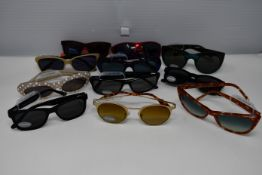 Eleven pairs of as new sunglasses to include Barbour, Oceanblue, Vanni and Rockstar.